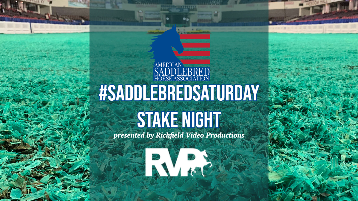 #SaddlebredSaturday Stake Night